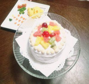 1歳,誕生日,スマッシュケーキ,ケーキスマッシュ,ケーキ台,手作り